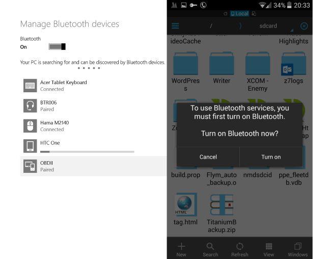 Muo-android-pc-datos para compartir con Bluetooth