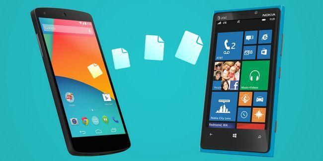 Cómo transferir datos personales entre android y windows mobile