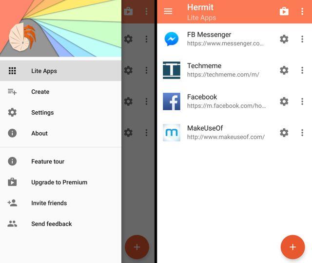 Ermitaño-android-lite-aplicaciones-menú