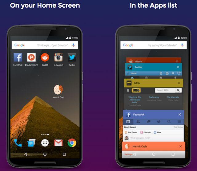 Ermitaño-android-Lite-aplicaciones-pantalla de inicio-recent-aplicaciones