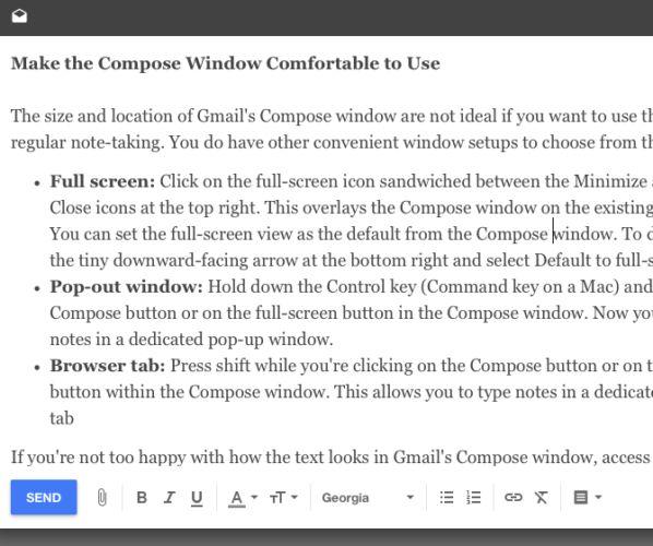 bandeja de entrada de composición de ventanas