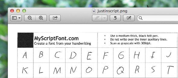 fuente letra cursiva
