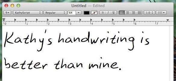 letra manuscrita