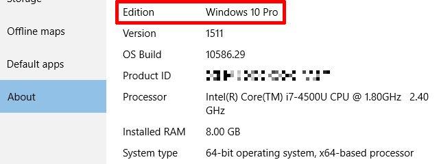 Windows 10 Edición Comprobar