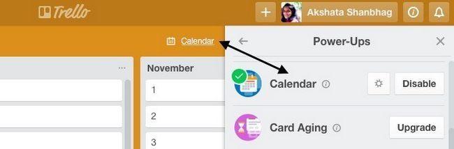 Trello Calendario Power-Up
