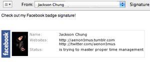 Cómo utilizar una tarjeta de identificación facebook como su firma de correo electrónico [mac]