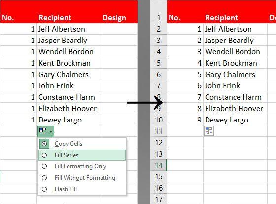 relleno modificado Excel