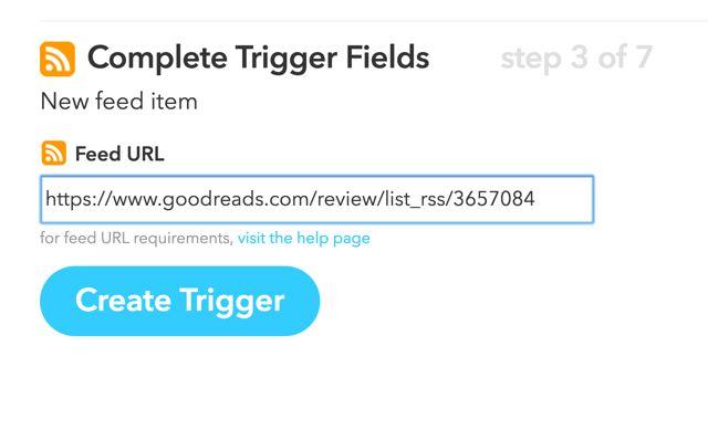 Goodreads-feed-ifttt