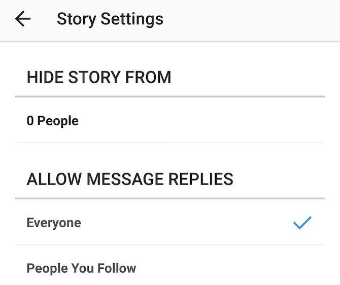 Instagram Historias Ajustes