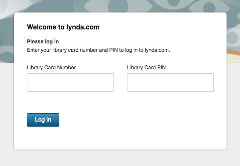Lynda registro de la biblioteca en