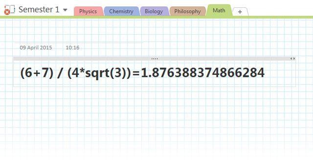 OneNote - Servilleta Matemáticas