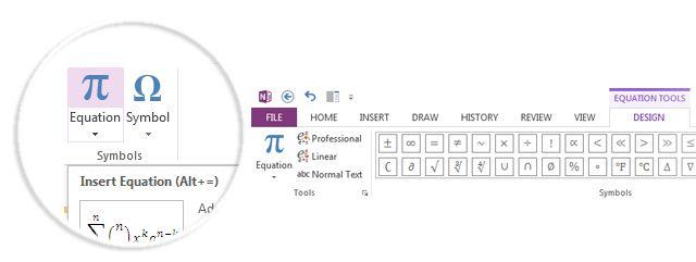 Insertar ecuaciones en OneNote