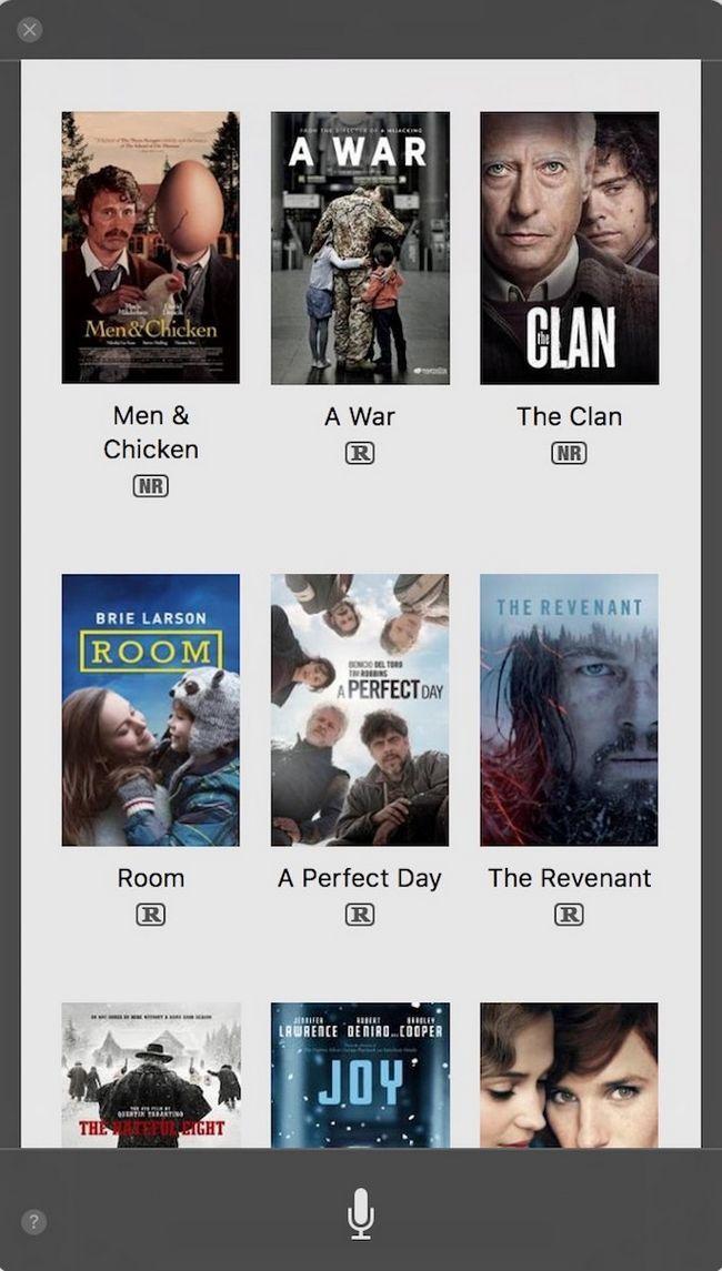 Siri Encuentre Cine Películas Reproducción