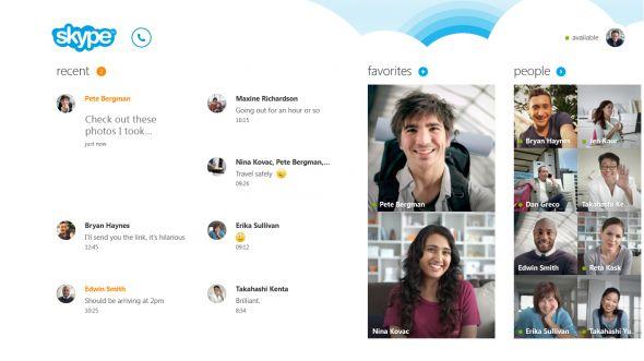 Skype pantalla de inicio