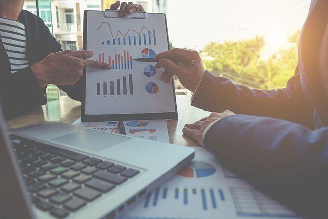 los datos de negocio en la tableta