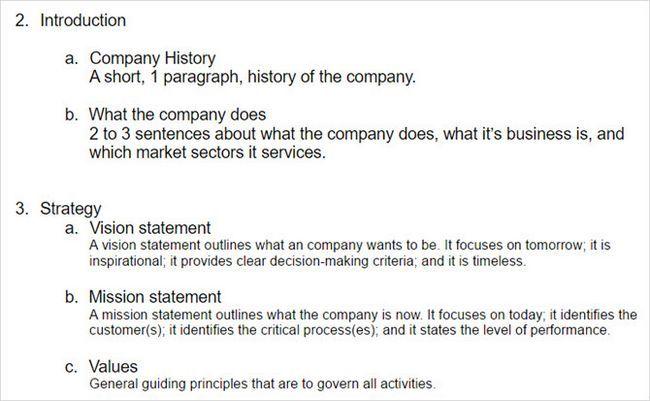 plantilla de perfil de la empresa de negocios