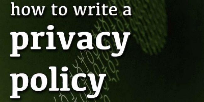 Cómo escribir una política de privacidad para su sitio web