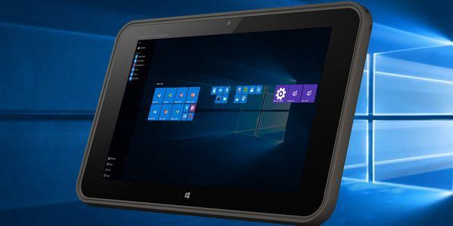 ¿En qué medida las ventanas 10 de trabajo en una pequeña tableta?
