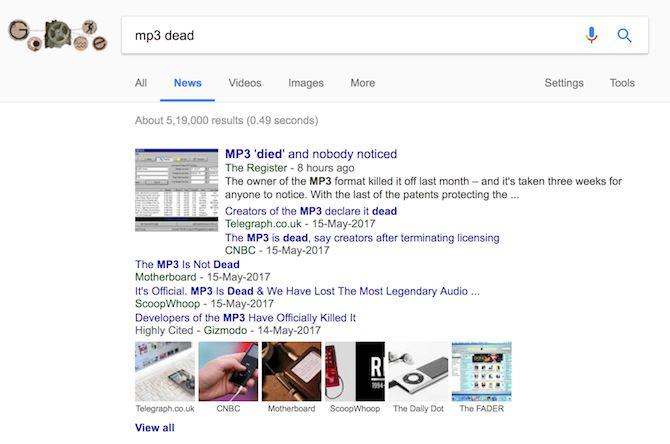 mp3 Google muertos noticias