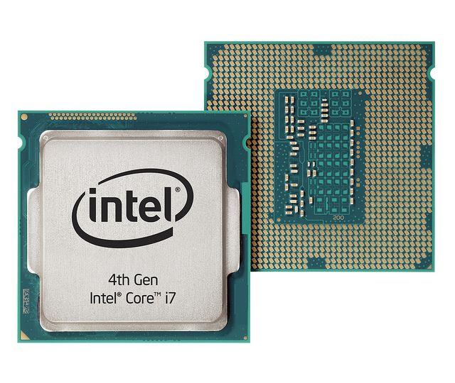 Cuarta generación del procesador Intel® Core ™ i7 delantera y trasera