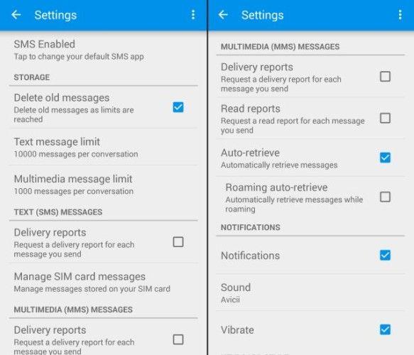 Truemessenger-identificar-desconocidos-texto-mensajes-contactos---ajustes-spam de SMS de filtro