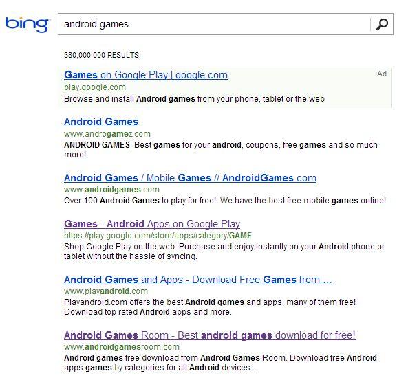 Bing mejor que Google
