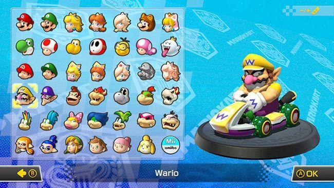 Mario Kart 8 caracteres de lujo
