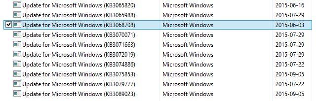 Captura de pantalla de Windows Update 8.1