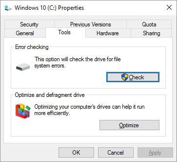 ventanas-10-de comprobación de errores