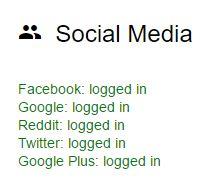 Cuentas de redes sociales aún está conectado