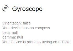 Data Browser giroscopio