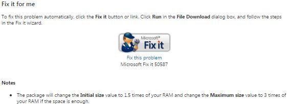 MS Fix It