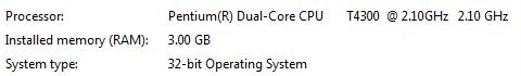 Especificaciones Sistema operativo