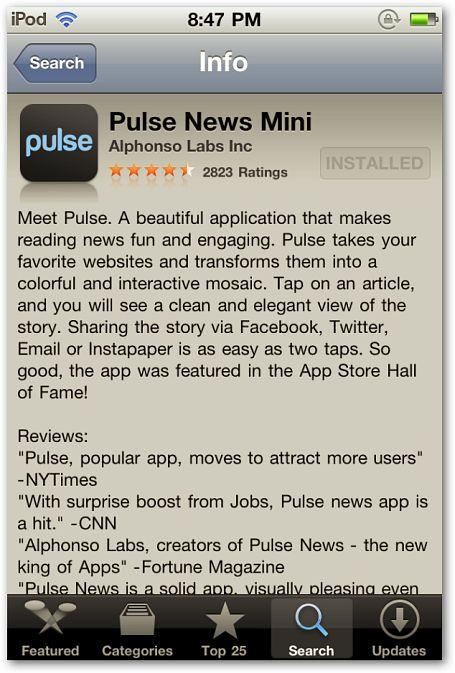 Mantenerse al día con los titulares de noticias en su dispositivo ios, con noticias de pulso