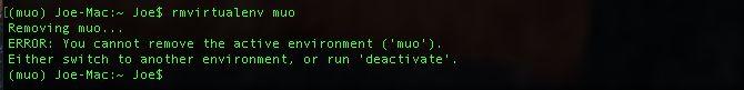 error entorno virtual pitón