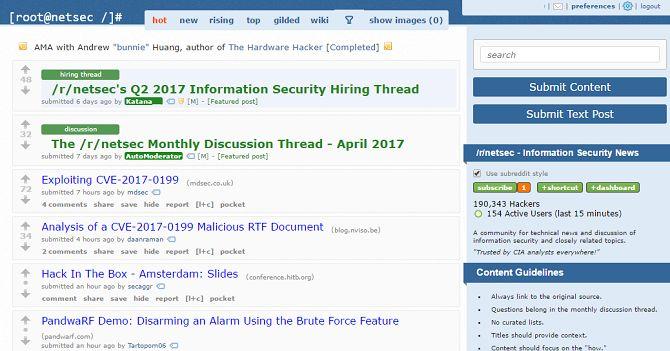 NetSec en reddit