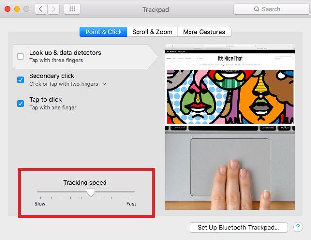 mac-tracking velocidad