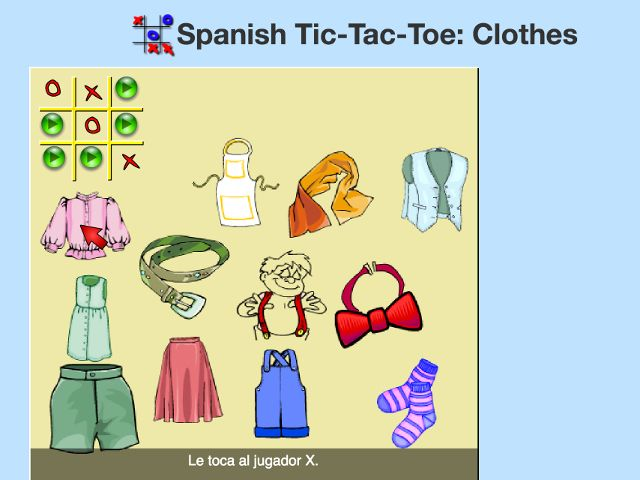 español-tic-tac-toe