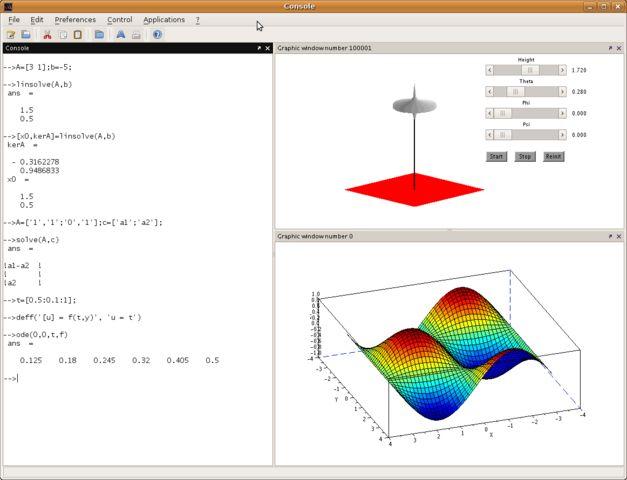 Linux-ganar-matemáticas-Scilab