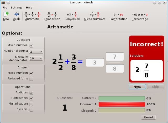 Linux-ganar-matemáticas-kbruch