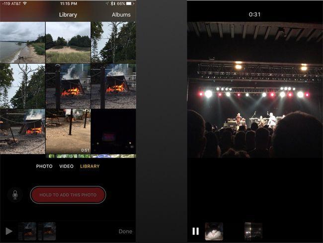 clips de foto y vídeo