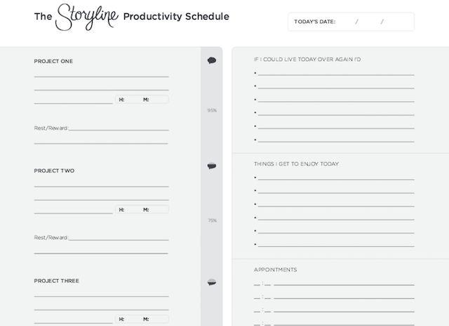 Nuevos años de resoluciones sitios web-Argumento-productividad-Horario