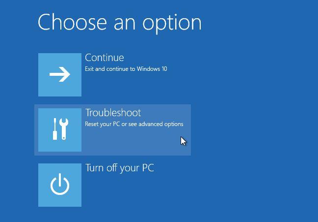Windows 10 opciones de arranque avanzadas solucionar problemas