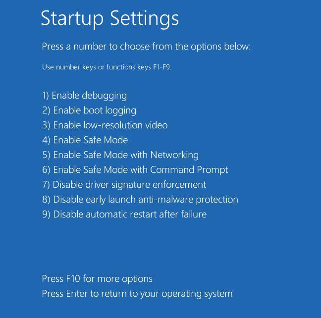 Windows 10 reiniciar la configuración de inicio