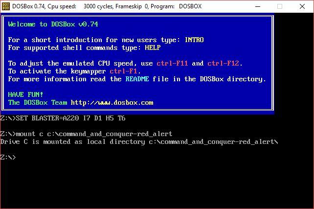 ventanas de programa 10 DOSBox edad