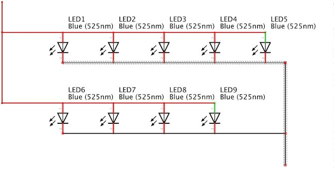 Botón de acceso directo de los LED Circuito