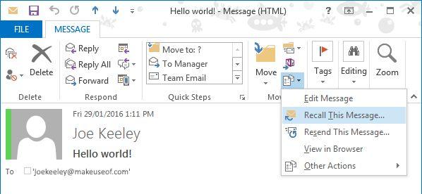 acceso directo de Outlook