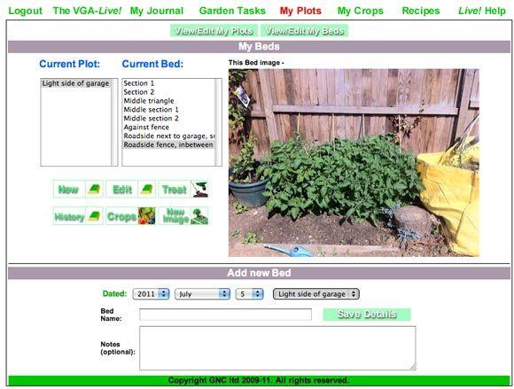 planificador de jardín vegetal