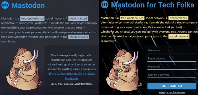 red social mastodonte de registro