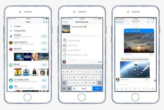 facebook-messenger-dropbox de pantalla